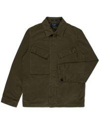 Paul Smith Khaki Garment-Dye Cotton-Twill Field Jacket khaki - Lyst