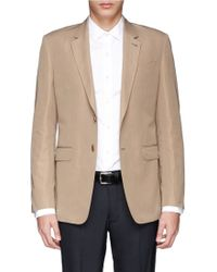 Paul Smith Cotton-Linen Blazer khaki - Lyst