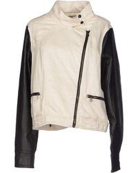 Rag & Bone Beige Denim Outerwear - Lyst