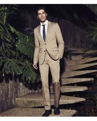 Express Khaki Cotton Sateen Photographer Suit Pant - Lyst