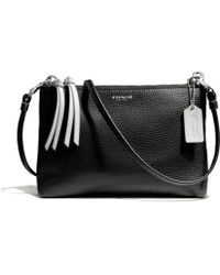 Coach Bleecker Triple Zip Crossbody in Edgepaint Leather - Lyst
