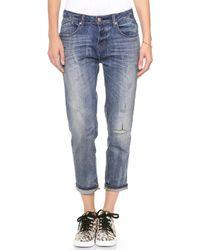 Marc By Marc Jacobs Jessie Boyfriend Crop Jeans  - Lyst