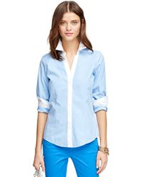 Brooks Brothers Petite Non-Iron Fitted Check Dress Shirt - Lyst