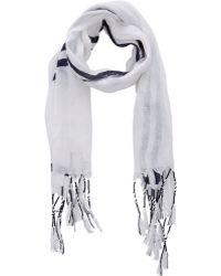 Balenciaga White Nautical-Stripe Scarf - Lyst