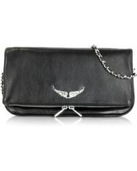Zadig & Voltaire | Rock Black Leather Clutch | Lyst