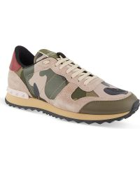 Valentino Camo-Print Trainers - For Women - Lyst