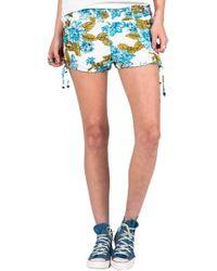 Volcom - 'swamis' Floral Print Shorts - Lyst
