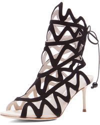 Sophia Webster Suede Mina 70mm Heels - Lyst
