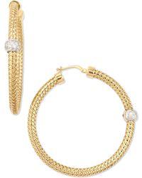 Roberto Coin 18K Yellow Gold Mini Primavera Hoop Earrings - Lyst
