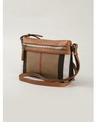 Burberry Haymarket Check Shoulder Bag - Lyst