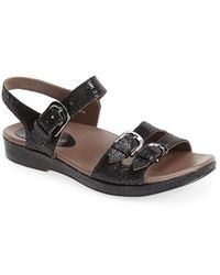 Earthies® Women'S 'Verdon' Crackle Leather Sandal - Lyst