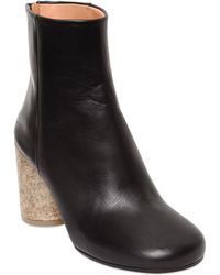 Maison Margiela 80Mm Calf Leather Ankle Boots - Lyst