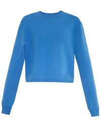 Acne Studios Misty Side-Zip Stretch-Knit Sweater - Lyst
