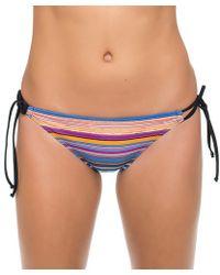 Oakley - Pacific Stripe Tunnel Side Bikini Bottom - Lyst