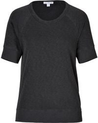 James Perse Cotton Short Sleeve Sweatshirt - Lyst