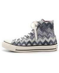 Converse Chuck Taylor All Star Missoni High Top Sneakers - Egret/Multi - Lyst