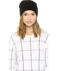 1717 Olive - Purl Knit Slouch Beanie - Mushroom - Lyst