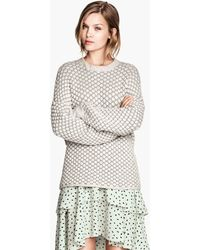 H&M Jumper in A Textured Knit - Lyst