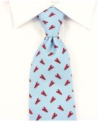 Reef Knots - Lobsters Silk Tie Blue - Lyst