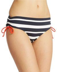 MICHAEL Michael Kors Shirred Hipster Bikini Bottoms - Lyst