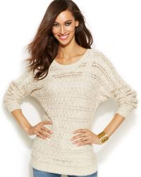 Inc International Concepts Long-Sleeve Cable Sweater - Lyst