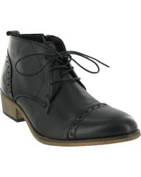 Marta Jonsson - Brogue Lace Up Ankle Boots - Lyst