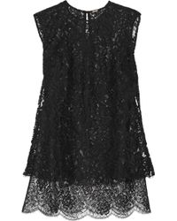 Adam Lippes Layered Lace Top - Lyst