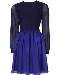 Matthew Williamson Ombre Spring Chiffon Boho Dress - Lyst