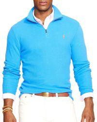 Ralph Lauren Polo Pima Half Zip Pullover - Lyst