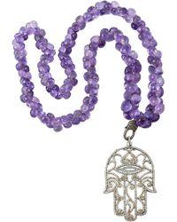 CB Bronfman | Diamond Hand Necklace | Lyst