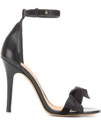 Isabel Marant Play Satin and Leather Sandals - Lyst