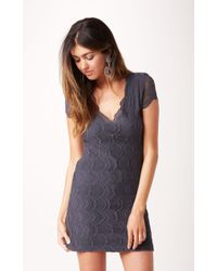 Nightcap Cap Sleeve Deep V Dress - Lyst