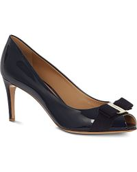B Store Pola Patent Leather Courts - For Women, Navy Blue blue - Lyst