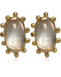Ruth Tomlinson - Gold Moonstone Stud Earrings - Lyst