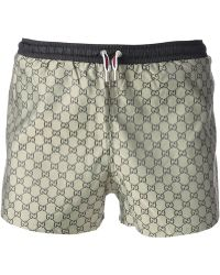 Gucci Geometric Pattern Swim Shorts - Lyst