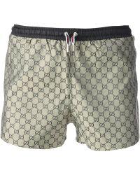Gucci Geometric Pattern Swim Shorts beige - Lyst