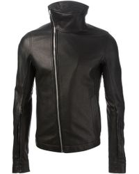 Rick Owens Black Leather Jacket - Lyst