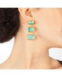 Toosis Aventurine Verticle Earrings - Lyst