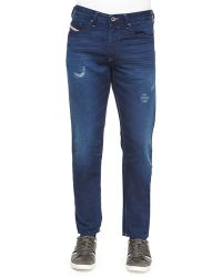 Diesel Distressed Relaxed-Fit Denim Jeans - Lyst