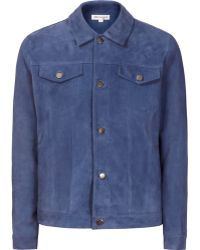 Reiss 1971 Menthe Suede Jacket blue - Lyst