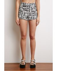 Forever 21 Abstract Print Shorts - Lyst