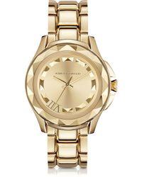 Karl Lagerfeld Karl 7 43.5Mm Gold Ip Stainless Steel Unisex Watch gold - Lyst