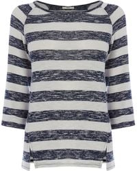 Oasis Marl Stripe Sweat - Lyst
