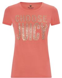 Juicy Couture Choose Juicy Short Sleeve T-shirt - Lyst