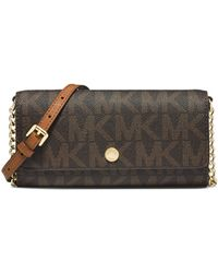 Michael by Michael Kors Jet Set Mk Travel Wallet-on-chain - Lyst