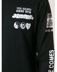 Diesel Black Printed Sweatshirt - Lyst