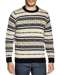 Gloverall - Fair Isle Crewneck Sweater - Lyst