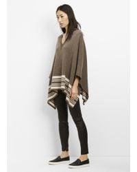 Vince | Wool Cashmere Border Stripe Poncho | Lyst