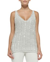 Donna Karan New York Cashmere Sleeveless V-Neck Tunic - Lyst