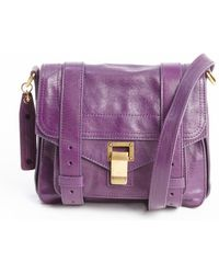 Proenza Schouler Royal Purple Leather Ps1 Pouch Buckle Strap Shoulder Bag - Lyst